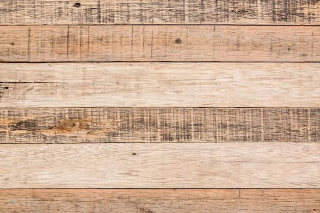 地平線の木材表面の堅材のテクスチャ背景と背景wooddenボード。