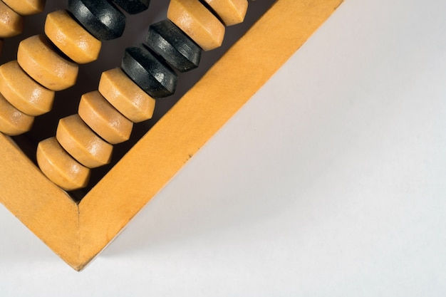 Wooden abacus for accounting.