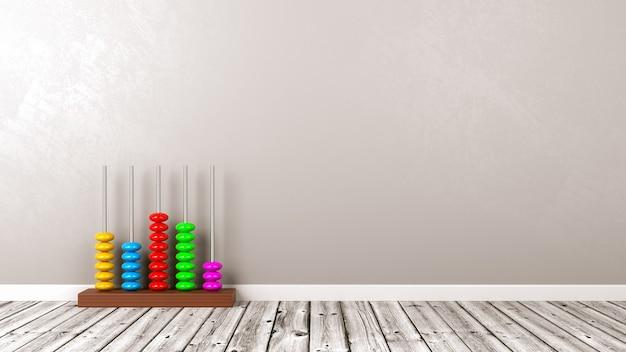 Wooden abacus on wooden floor