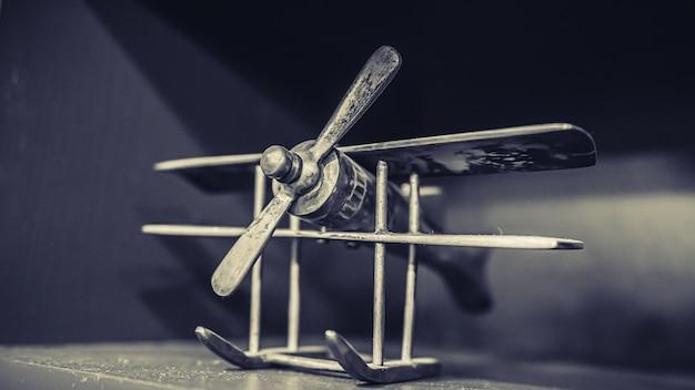 Wooden airplane display model