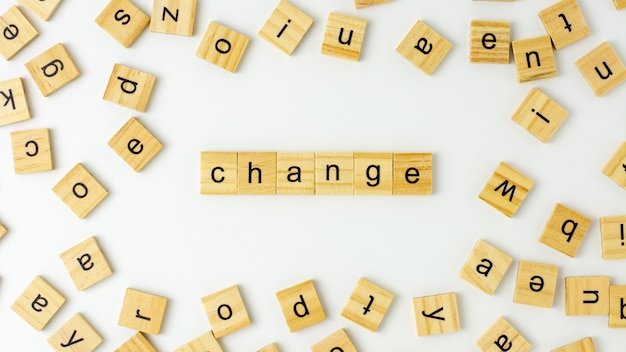 Wooden alphabet words