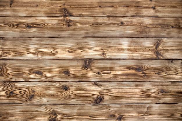 焼成とブラッシングによる木製の背景熟成ボード