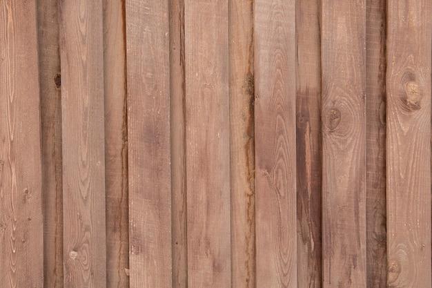 Деревянный фон из коричневых вертикальных досок. текстура древесины с копией пространства.