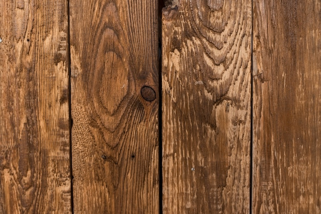 板で作られた木製の背景。その木は色が濃い。