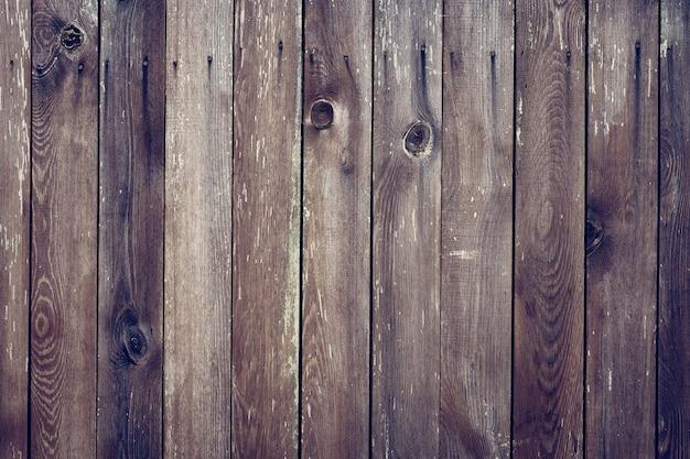 Wooden background, old worn boards in grunge style Premium Photo