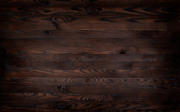 Wooden background, rustic brown planks texture,