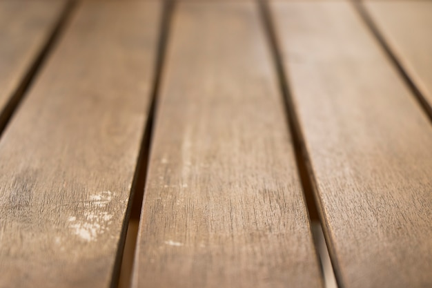 Wooden background and texture, blur selective focus, daylight