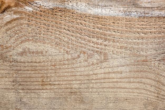 水平線と目の形の結び目の木製の背景