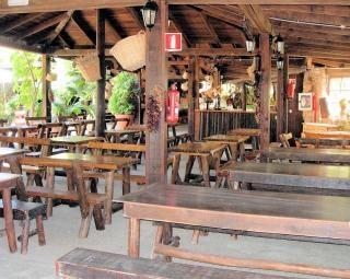 Wooden bar in fuerteventura  pub