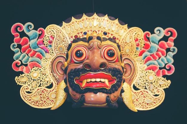 Wooden barong mask from tegallalang in bali