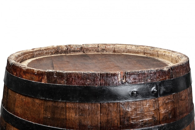 Wooden barrel with iron rings