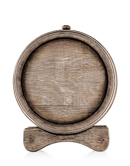 Wooden barrel with stand