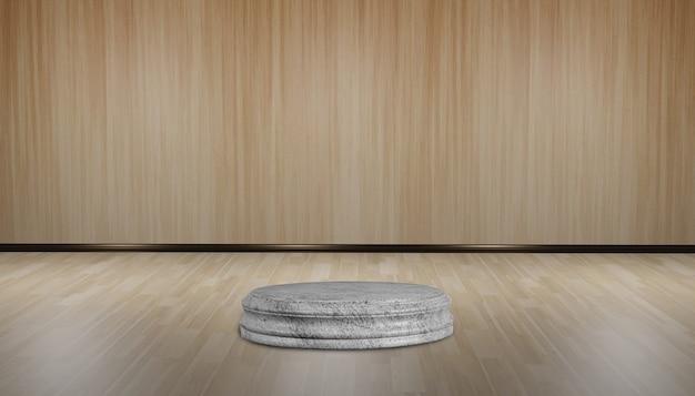 木製ベース表彰台の背景