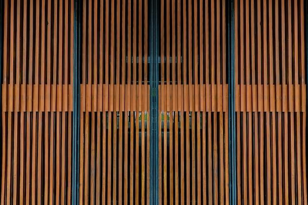 Wooden battens wall background