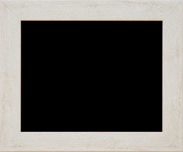 An wooden black picture frame