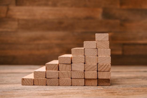 개념 계획, 위험 및 비즈니스 전략으로서의 나무 블록 사다리