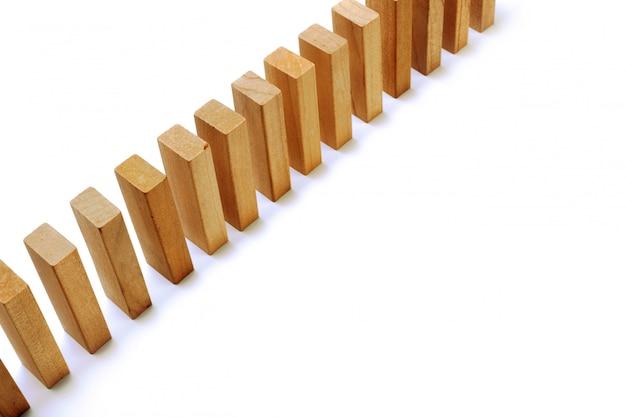 Wooden blocks on white background