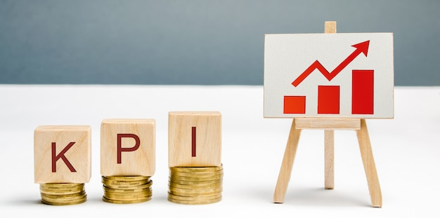 Wooden blocks with the word kpi