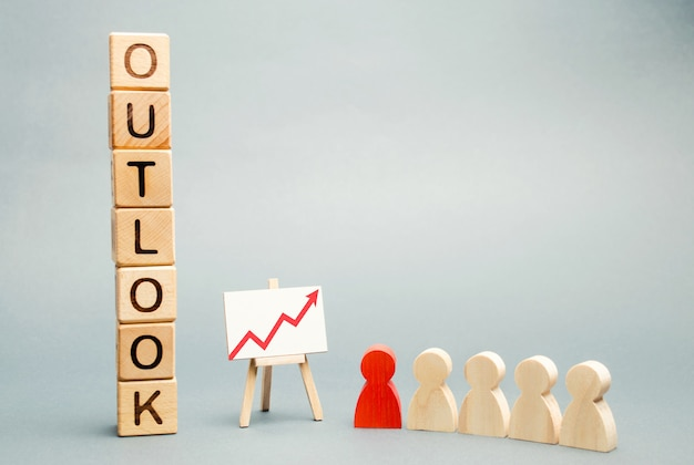 Wooden blocks with the word outlook