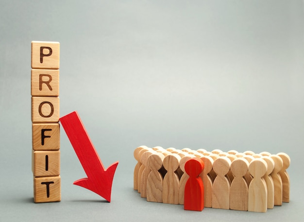 Wooden blocks with the word profit