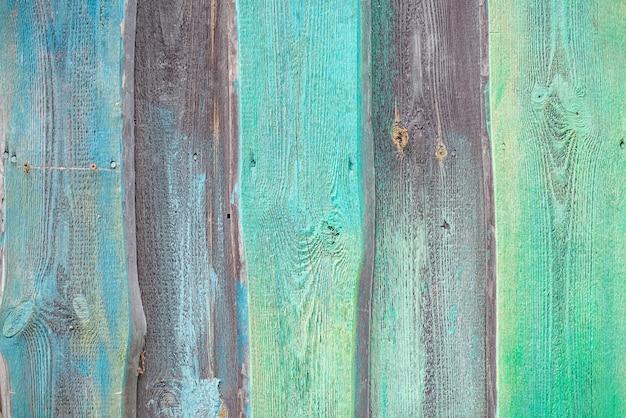 木製の青と緑のテクスチャ