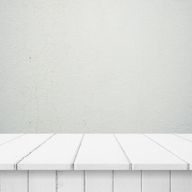 Wooden Boards With A White Wall
