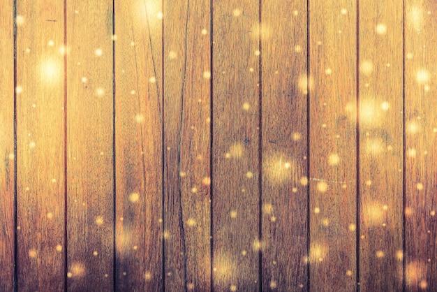 빛의 섬광을 가진 나무 보드