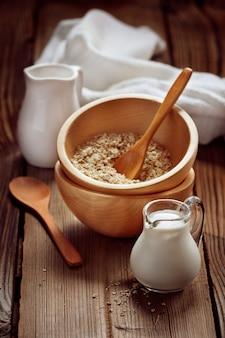 Wooden bowls and a small jug
