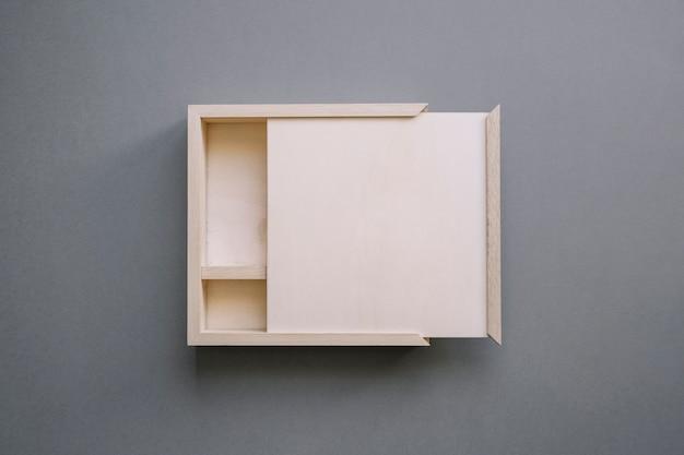 Wooden box mockup