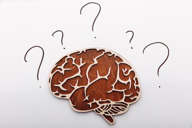 질문 징후와 나무 두뇌입니다.