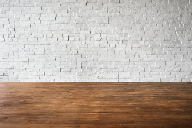Wooden brick floor wall structure textured white concept