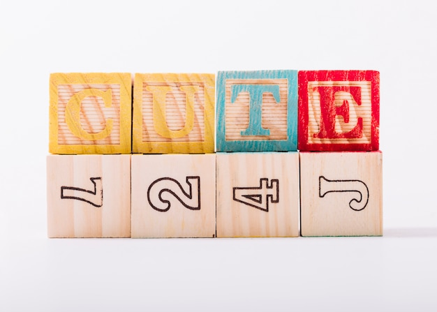 Wooden bright cubes with cute title