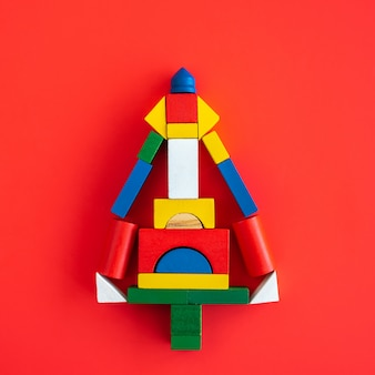 Wooden bright geometric shapes, multi colored education toy for kid