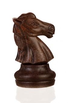 Wooden brown chess piece