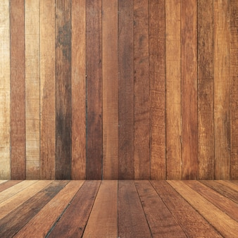 Wooden brown perspective texture and background with space