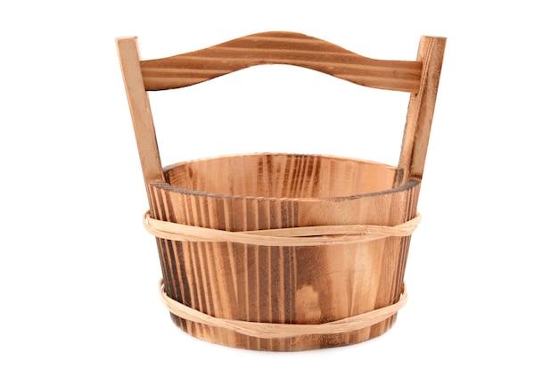 木製のバケツ