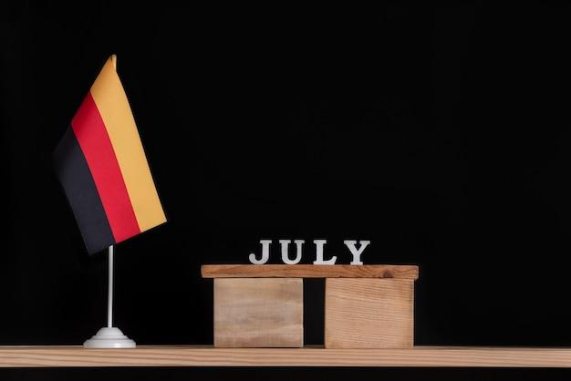 Wooden calendar with german flag