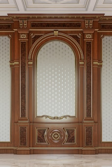 Wooden carved panels in a classic style.