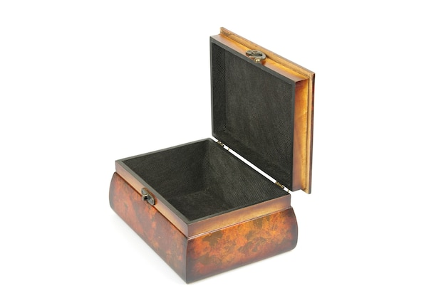 Wooden casket isolated