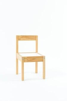 Деревянный стул, изолированные на белом фоне