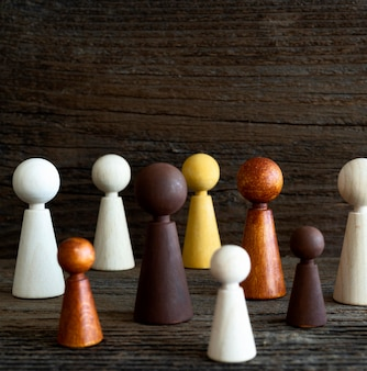 Wooden chess pieces copy-space