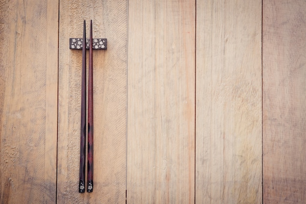 Wooden chopsticks.