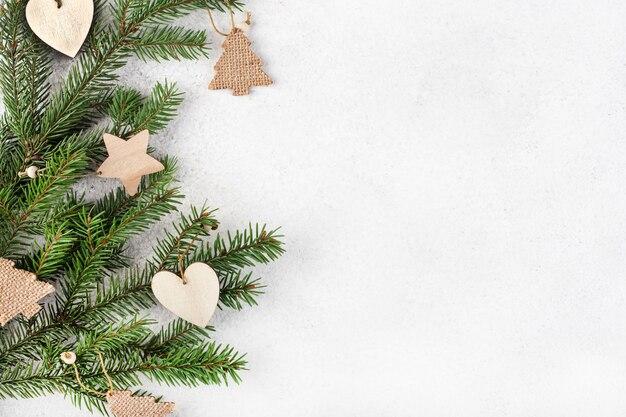 전나무 가지, 평면도에 나무 크리스마스 트리 에코 장난감