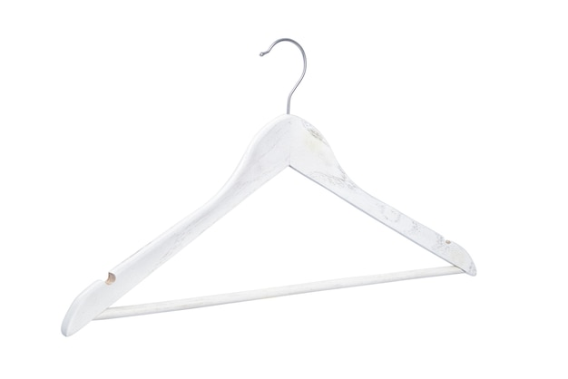 Wooden clothes hanger isolated