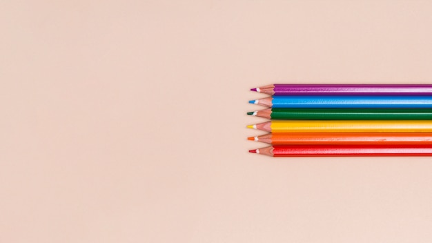 Wooden colored pencils lgbt