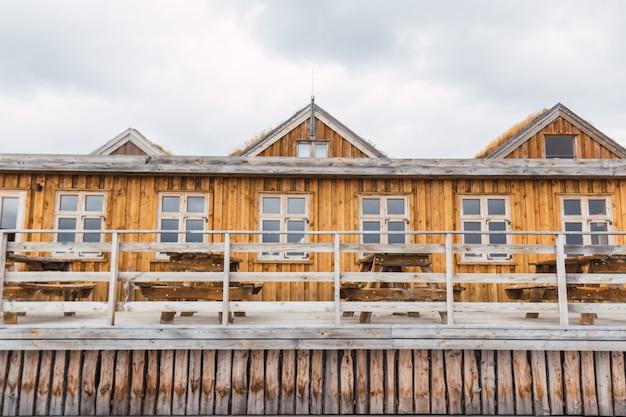 아이슬란드 캠프장의 목조 건축