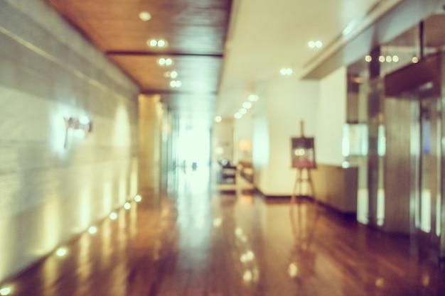 木製の廊下は、デフォーカス