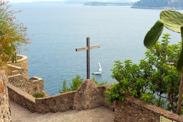 Wooden crucifix in the aragonese castle