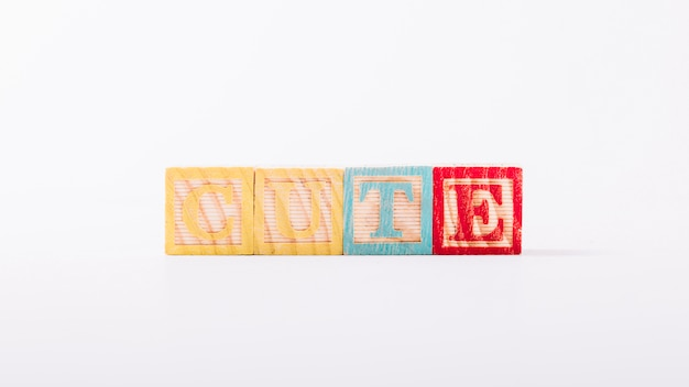 Wooden cubes with cute title