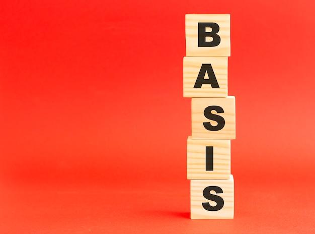 단어 basis와 나무 큐브